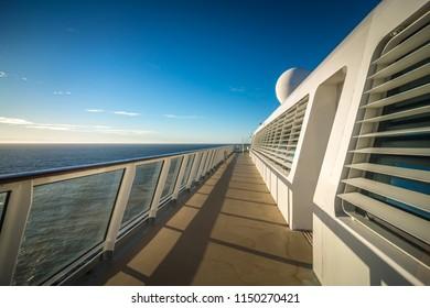 on cruise ship deck to alaska