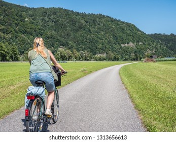 On the Danube bike path in Austria