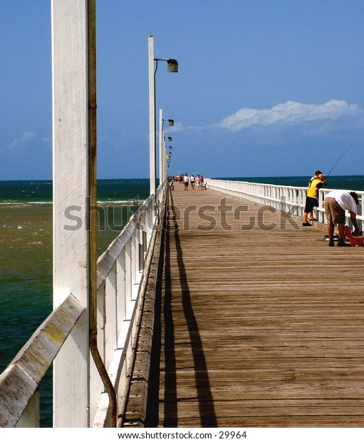 On the deck of the Pier