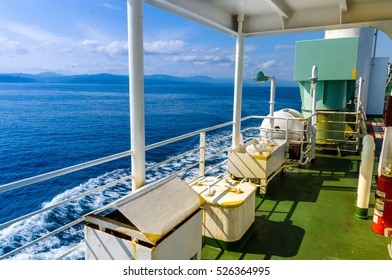 on the deck, watch the sea