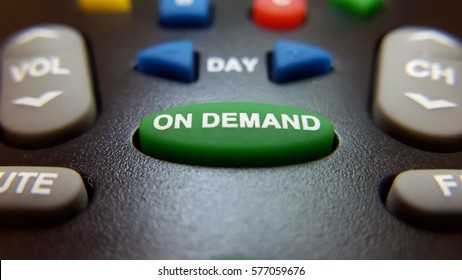 On Demand TV remote control button