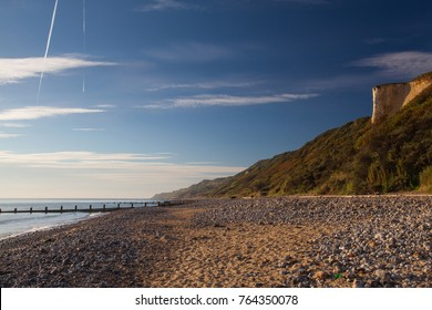 On the empty beach in Cromer, Norfolk, Great Britain