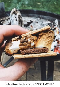 S'more on the fire
