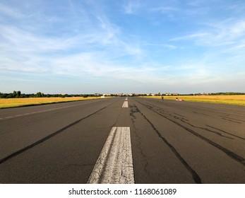On the former runway at Tempelhofer Feld in Berlin, Germany in summer 2018.