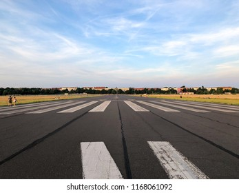 On the former runway at Tempelhofer Feld in Berlin, Germany in summer 2018.