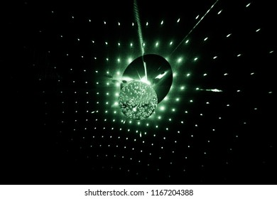 On the glass sphere, the laser beams are reflected from it