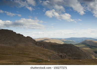 On a hazy summer Evening at 13,000 feet you can see forever--almost to the prairies of Kansas from here. Mount Evans Wilderness, Front Range, Colorado.