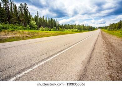 On the highway between Grande Prairie and Grande Cache Alberta Canada