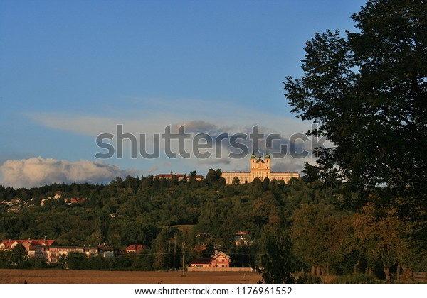 On the hill above the outskirts of the town of Olomouc in the Czech Republic historians are significant Basilica of the Visitation of Our Lady and it is a National Monument and a pilgrimage place.