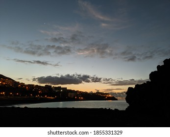 On the island of Madeira, a Sunrise over Funchal