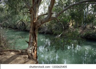 On the Jordan river in Israel