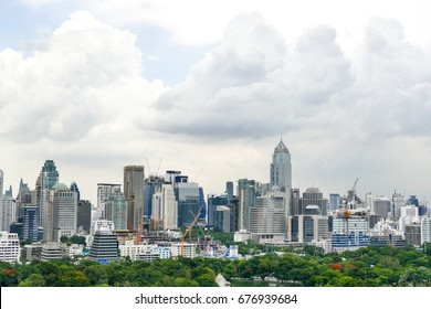 On July 1, 2017, a view of the capital from the upper floor of Dusit Thani Bangkok, Thailand.