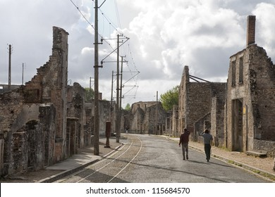 On June 10 - 1944  642 inhabitants of Oradour-sur-Glane in the southern France was killed by the German Gestapo and the village burned down. Burned out buildings still tell the story.
