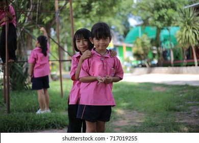 On June 2, 2017, there was a school students in Thailand. They play happily. And they were happy to take pictures with their friends.