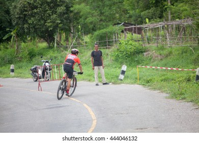 On June 26, 2016 , cyclists from various provinces had gathered for a mountain  bicycle race .at Mae Sariang district , Mae HongSon, Thailand