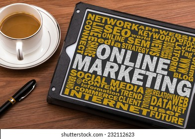 on line marketing concept