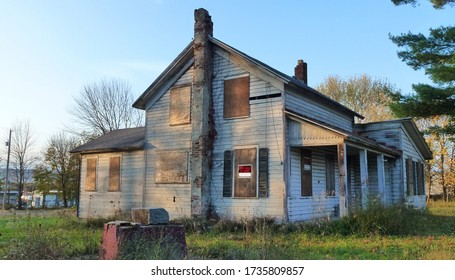 On March 23, 2020 in New York City, United States, an image of a large, rustic house in the countryside was created.