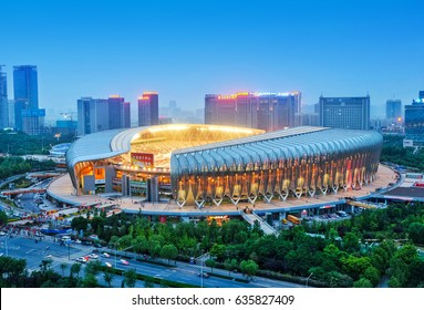 On May 6, 2017, the Olympic stadium in jinan,China