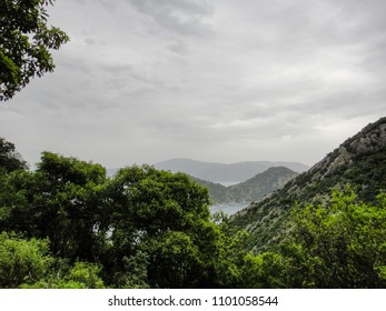 On a mountain path in the southern part of Iclemer town near Marmaris and Turunc in Turkey. Nature of Asia Minor