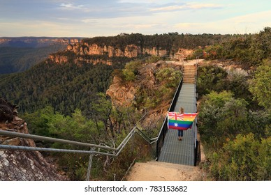 On November 15 2017, Australians voted yes to equality in a referendum, closing the gap in our laws.  A woman with a flag crosses the bridge in symbolism
