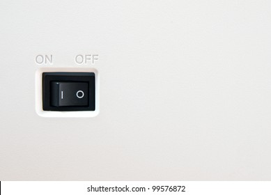 On off switch button with blank space