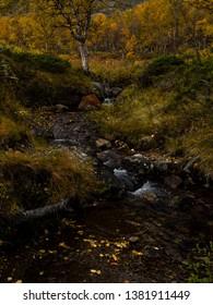On the path around Gjende lake, Jotunheimen national park - Norway.