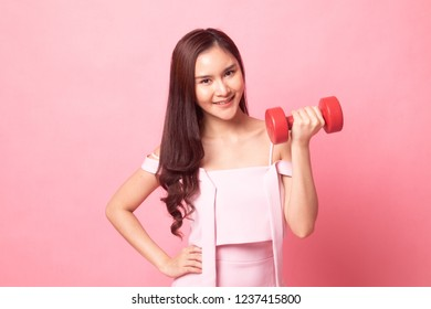 on pink background