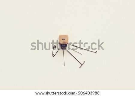 ON Pins Needles Idiom Concept ON Stock Photo (Edit Now