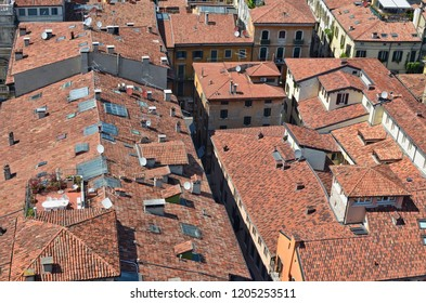 Clay Roof Tile In Natural Red Images Stock Photos