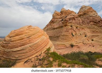 On the remote Paria Plateau in Vermilion Cliffs National Monument, White Pocket is a group of swirling, multicolored formations of Navajo sandstone