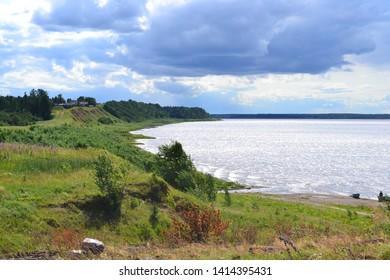 On the river bank. Vavchuga