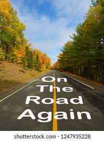 987e2d02191 On Road Again Road Lined Autumn Stock Photo (Edit Now) 1247935228 ...