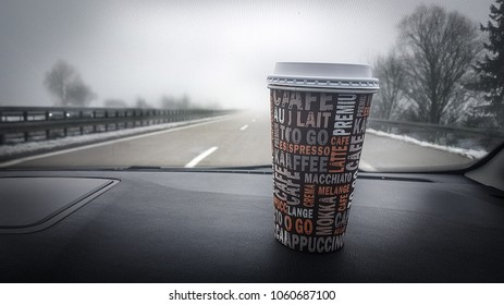 on the road with coffee