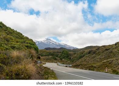 On The Road to Mount Ruapehu, Tongariro National Park, North Island of New Zealand