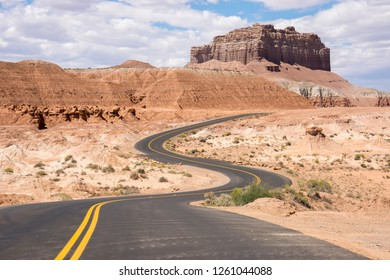 on the road Scenic Byway in Capitol Reef National Park in United States of America
