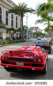 On Rodeo drive, in Beverly Hills, California