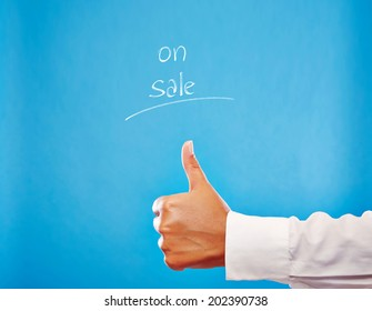 ON SALE! Business Hand showing thumb up