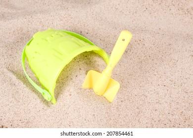 on the sandy beach