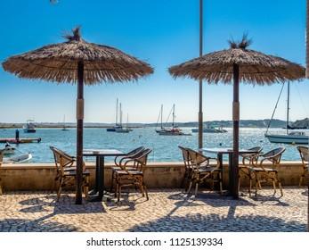 On the seafront in Alvor, Algarve, Portugal