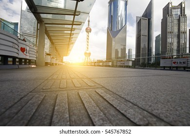 On September 25, 2015, China. Shanghai: Shanghai lujiazui financial district and commercial buildings, lujiazui is one of the most influential financial center in China.