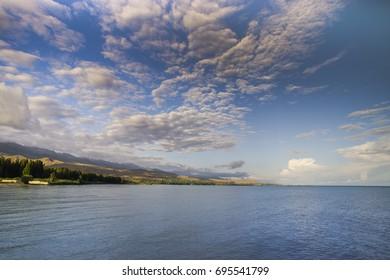 On the shore of Lake Issyk-Kul, Kyrgyzstan