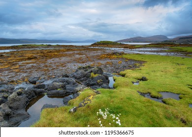 On the shores of the Sound of Mull near Salen on the Isle of Mull in Scotland