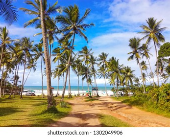 """On the sign is written: """"Resende Beach, Welcome"""", Itacare, Bahia, Brazil"""