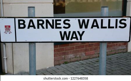 On the street corner of the Barnes Wallis Way, Buckshaw village, Chorley, Lancashire, England, Europe on Monday, 12th, November, 2018