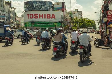 On the street of HoChiMinh city, Vietnam , photo 27/05/2014