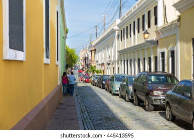 on the street of San Juan, Puerto Rico