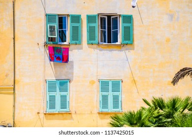 On the streets of the beautiful Mediterranean city of Menton. French Riviera. Cote d'Azur