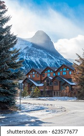 On the streets of Canmore in Rocky Mountains, Alberta, Canada