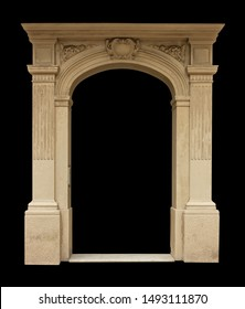 On the streets in Georgia, public places. Elements of architectural decorations of buildings, doorways and arches, plaster moldings, plaster patterns.  - Shutterstock ID 1493111870