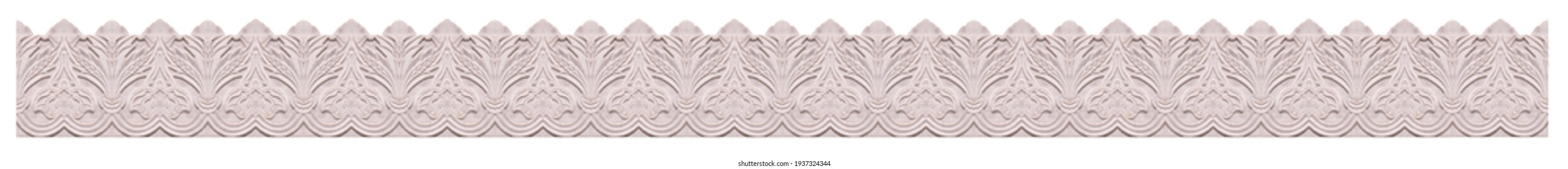 On the streets in Istanbul, public places. Elements of architectural decoration of buildings, plaster stucco, wall texture, plaster molding and patterns.